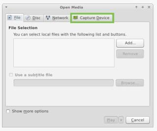VLC open media